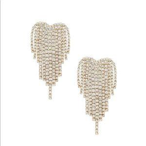 Ettika gold crystal fringe gala earrings